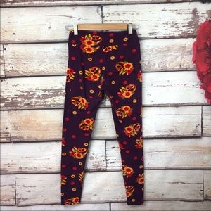 Lularoe halloween unicorn leggings pumpkin purple